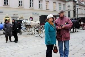 Barbara Kukulska z mężem Markiem w Wiedniu