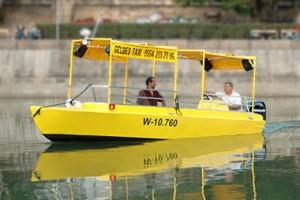 Żółtą wodną taksówką po Dunaju