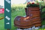 W Sankt Johann am Tauern pokaz miejscowego rzemiosła, wyrabia tu się taaakie buty !