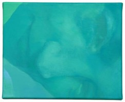 "Part II Triptych ""Green light"", 2013, acrylic painting on canvas, 22 x 81 cm"