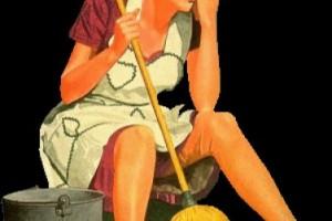 Hańba! Ona jest sprzątaczką!