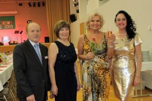 od lewej; Julian Gaborek, Ania Gaborek, Elżbieta Hasanbegovic oraz Izabela Grabowski.