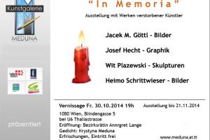 """""""In Memoria"""" – Ausstellung mit Werken verstorbener Künstler."""