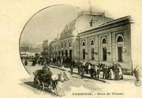 Dworzec Wiedeński w Warszawie został otwarty w 1845 roku i pozostał aż do 1920 roku. / foto: archiv net/