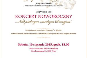 Zaproszenie na Koncert Noworoczny .