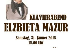 SCHUBERTIADE – W programie recitalu utwory Franza Schuberta (31.01. – dzień urodzin kompozytora.
