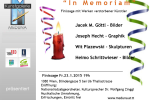"Finissage ""In Memorian""."