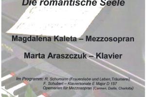 """Die romantische Seele"" – Konzert / Magdalena Kaleta-Mezzosopran/Marta Araszczuk-Klavier"