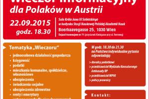 Wieczór Informacyjny dla Polaków w Austrii.