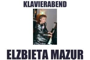 Elżbieta Mazur zaprasza na wieczór fortepianowy, który odbędzie się w  Mautner-Schlössl, Prager Straße 33.