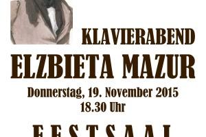 Schubertiada – koncert fortepianowy Elżbiety Mazur.