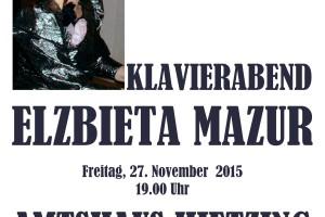 Elzbieta MAZUR zaprasza na Koncert Adwentowy.
