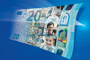 Nowy banknot 20 €  zostanie wprowadzony do obiegu 25 listopada 2015 roku.