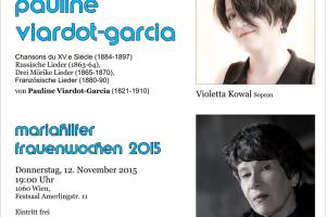 "Konzert ""Starke Frauen des 19.Jhs"""