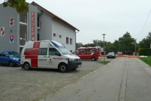 Polskie zapory przeciwpowodziowe w Austrii.