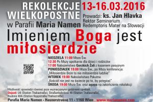 Rekolekcje dla Polaków w Parafii Maria Namen.