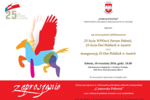 Zaproszenie na uroczystości rocznicowe Forum Polonii