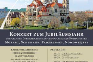 Konzert zum Jubiläumsjahr – Der grossen Östereichischen und Polnischen Komponisten.