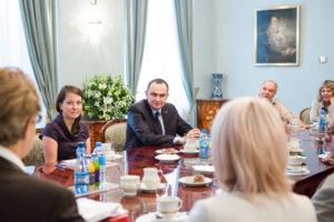 Spotkanie z przedstawicielami Światowej Federacji Sportu Polonijnego