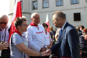 Elżbieta Rybarska i Dr. Aleksander Korybut-Woroniecki, Konsul Generalny Ambasady RP w Wiedniu.