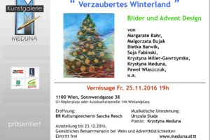 """Verzaubertes Winterland"" – vernissage 25.11.2016"