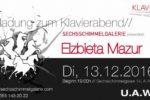 Elżbieta Mazur zaprasza na koncert fortepianowy.