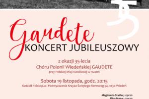 35 lat działalności chóru Gaudete