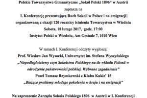 """Polskie Towarzystwo Gimnastyczne """"Sokół Polski 1896"""" w Austrii"""