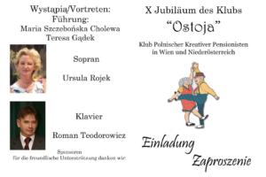 """10. Rocznica Klubu Polskich Kreatywnych Pensjonistów """"Ostoja"""""""