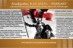 Upamiętnienie 334. rocznicy zwycięskiej bitwy pod Parkanami 1683