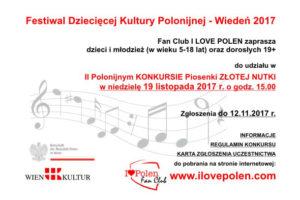 II Polonijny Konkurs Piosenki – Wiedeń 2017