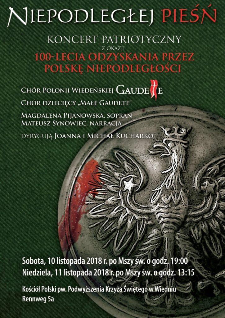 Koncert Patriotyczny z okazji 100-lecia odzyskania przez Polskę niepodleglosci