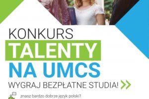 Konkurs TALENTY na UMCS w Lublinie