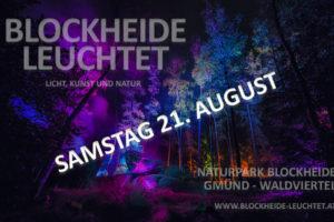 "Performance Natalii Kopielskiej w ramach festiwalu ""Blockheide Leuchtet 2021"""